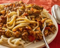 Lentil Spaghetti Bolognese - SpagBol has gone vegan - a vast improvement IMHO because now it's not just yummy and satisfying, it's actually good for you!
