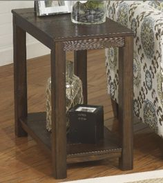 Ashley Furniture Signature Design Grinlyn Chair Side End Table  Rustic  Brown Ashley http Laflorn Chairside End Table with Power Outlets   Pull Out Shelf by  . Ashley Furniture Laflorn Chairside End Table. Home Design Ideas