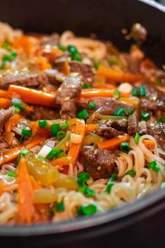 Quick Recipe of Noodles with Beef Meat - Go Cook Yummy - Amazing Foods Menu Recipes Dinner Recipes Easy Quick, Brunch Recipes, Easy Meals, Asian Recipes, Beef Recipes, Ethnic Recipes, Beef And Noodles, Rice Noodles, Recipes With Beef And Rice