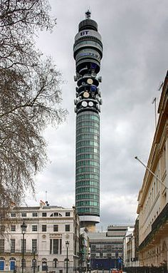The BT Tower is a communications tower located in Fitzrovia, London, owned by BT Group. It has been previously known as the Post Office Tower, the London Telecom Tower and the British Telecom Tower.