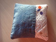 Sachet Pin Cushion  Made From Antique Quilt  by backgatecottage