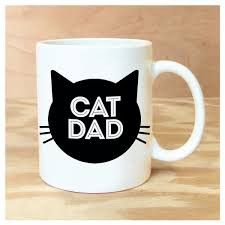 """Do you know a Cat Dad? Maybe YOU are one? Be proud with our Cat Dad Coffee Mug! Dimensions:åÊåÊ 3 3/4"""" tall x 3"""" diameter Packaged in a sturdy gift box Dishwasher & Microwave Safe"""