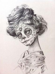 sugar skull drawings - Buscar con Google