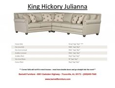 King Hickory Julianna Sectional.  You Choose the Fabric or Leather