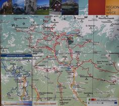 Landkarte / map Styria, Tragöss/Grüner See