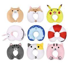 Cute Anime Cartoon U Neck Pillow Shiba Inu Pikachu Cat Backyard Neck Pillow #Unbranded #Cartoon