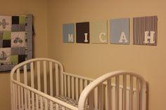 simple baby room decor.