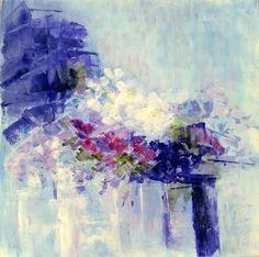 """Saatchi Art Artist Aase Lind; Painting, """"FLOWERS in violet"""" #art"""