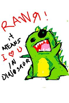 An awesome dinosaur from @KevinLotero on Twitter.