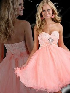 A-line Tulle Sweetheart Beading Short/Mini Formal Dresses -AUD$131.59