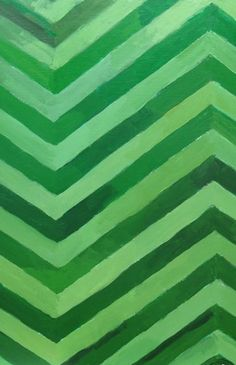 Green painted art...love the varying subtle textures and shades..