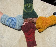 Avatar: The Last Airbender Wrist Warmers, Hand Knit, Made to Order. $25.00, via Etsy.