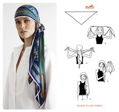 Learn how to wear your Hermes Scarf in different ways. Hermès Scarf Around Your Neck, as a Belt, Clothing Accessory, Handbag and more. Explore how to Tie a Hermes Scarf in stylish ways! Hair Wrap Scarf, Hair Scarf Styles, Turban Mode, Scarf Knots, Paris Mode, Turban Style, How To Wear Scarves, Scarf Hairstyles, Pirate Hairstyles