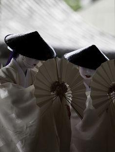 Yasaka dancers for Gion Matsuri Festival in Kyoto, Japan