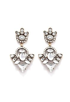 Rhinestone Drop Earrings | Forever 21 - 1000161844