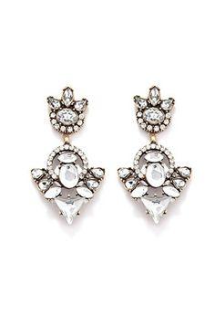 Rhinestone Drop Earrings | Forever 21 | #f21accessorize