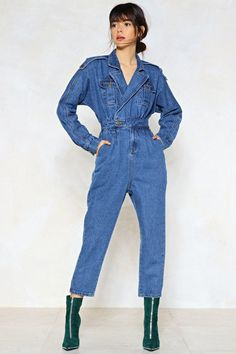 Blue Jean Baby Denim Jumpsuit   Shop Clothes at Nasty Gal!