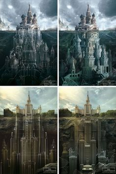 russian architecture underground drawings