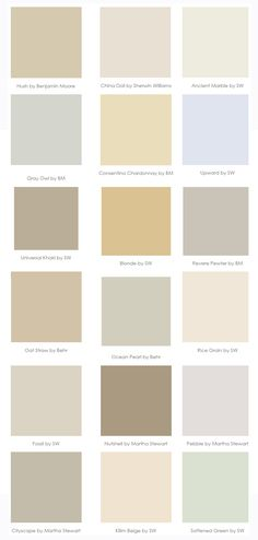 Paint Colors that go with WOOD {trim and cabinets}--great pin, @Heather…