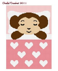 Chella Crochet Sleeping Baby Girl Monkey Crochet Afghan Pattern Graph