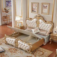 Luxury Bedroom Sets, Luxury Bedroom Furniture, Bed Furniture, Luxurious Bedrooms, Modern Bedrooms, Draps Design, All Modern Furniture, Designer Bed Sheets, Royal Bedroom