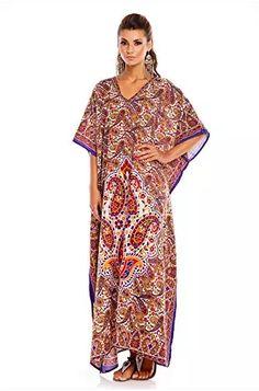 Looking Glam Neuf pour Femmes Coupe Oversize Maxi Kimono Tunique Caftan Robe Caftan Taille Libre