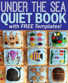 Under the Sea Quiet book with free templates. #toddler #quietbook #handmade #ocean | spotofteadesigns.com
