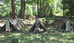The story behind the South's tent-shaped grave covers.