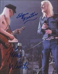 Johnny & Edgar Winter  WOW!  great pic!!!