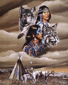 Spirit of the Tribe ~ Fine-Art Print - Native American Spirituality Art Prints and Posters - Native American Pictures Native American Cherokee, Native American Pictures, Native American Artwork, Native American Wisdom, Indian Pictures, Native American Beauty, Native American Design, American Indian Art, Native American History