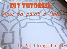 Tips and tricks for painting floors! #stenciling #stencil