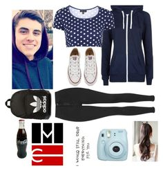 """When your in MagCon and he's not"" by maddysleepy ❤ liked on Polyvore featuring Topshop, Converse, adidas Originals, women's clothing, women, female, woman, misses and juniors"