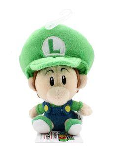 "Amazon.com: 5.5"" Official Sanei Baby Luigi Soft Stuffed Plush Super Mario Plush Series Plush Doll Japanese Import: Toys & Games"