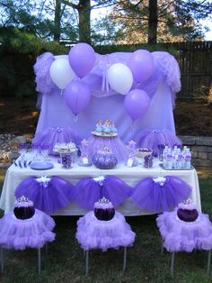 Sophia the First Party ideas. The Little Purple  Princess Party to Go Box. See it at My Princess Party to Go. http://www.myprincesspartytogo.com/Purplicious.html #princesspartyideas #sophiathefirst