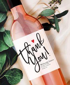 Wedding wine label - Thank you wine label- Personalized Label - Wine label - Birthday Wine Label - Wedding Bottle Label - Custom wine label Wedding Wine Labels, Wedding Bottles, Personalized Wine Bottles, Personalized Labels, Custom Wine Labels, Wine Bottle Labels, Wine Favors, Wine Label Design, Bottle Carrier