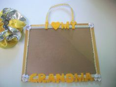 8x10 picture frame I Love My Grandma in by WhisperKissCreations, $15.00