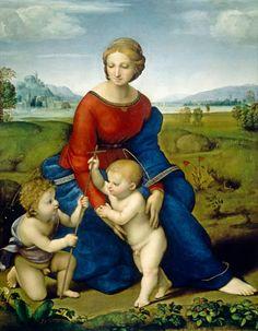 (Raphael) Raffaello Santi - Madonna in the greenery