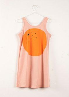 Sleeveless Dress Orange