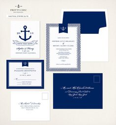 Nautical Invitation  Navy Wedding Invitation  by prettychicsf, $4.00