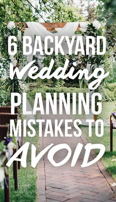 You can have a beautiful wedding right in your backyard. Just be sure to skip these 10 common mistakes when planning your big day! wedding tips 10 Mistakes Brides Make When Planning A Backyard Wedding Plan Your Wedding, Wedding Tips, Wedding Order Of The Day, Wedding Reception Checklist, Wedding Ceremony, Small Wedding Receptions, Wedding Foods, Wedding Catering, Wedding Beauty