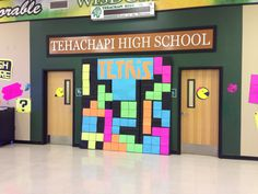 Video Game themed dance decorations: Tetris