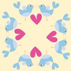 Lovely birds - Diseños de jessica | ilatela.com - imprime tus sueños en tela