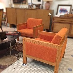 Browse the latest merchandise in store at Rocket Century in Saint Louis, MO. Vintage Modern, Mid-century Modern, Mid Century Modern Furniture, Armchair, Orange, Link, Inspiration, Home Decor, Womb Chair