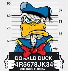 Donald Duck Mugshot