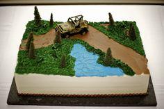 4 Wheeler Cake, Cake Cookies, Cupcake Cakes, Jeep Cake, Sheet Cake Designs, Truck Cakes, Chocolate Cheesecake Recipes, Forest Cake, Cakes For Boys