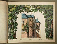 Neue Decorationen für Kindertheater. Wald. Coulissen. Nr. 501 B.