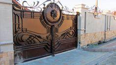Wrought iron estate gates