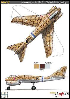 Messerschmit Me P1102-105 Swing Wing