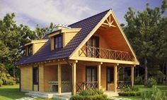 Дървена къща или тухлена къща? Разликата тук: Log Homes, Tiny House, House Styles, Cabins, Places, Treehouses, Home Decor, Two Story Houses, Timber Homes