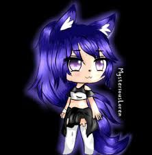 Glowing Galaxy Wolf Gacha Life Google Search Anime Wolf Girl Anime Galaxy Anime Wolf